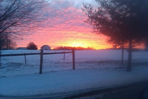 winter sunrise I