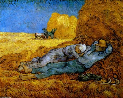 Vincent-Van-Gogh-Rest-Work-after-Millet-